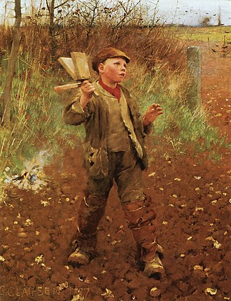 George Clausen - Image: George Clausen, 1887 Bird scaring