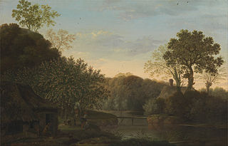An Autumn Landscape with Apple Picker