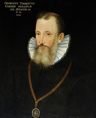 George Talbot, 6th Earl of Shrewsbury - Image: George Talbot 6th Earl of Shrewsbury 1580