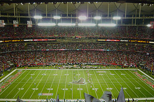 English: NFL: The Atlanta Falcons kick off to ...