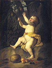 A Child Picking Fruit