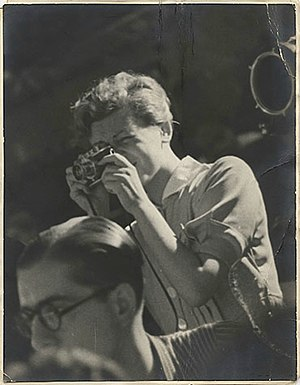 Gerda Taro - Gerda Taro in Spain, July 1937