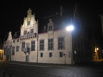 Hof van Savoye - Court of Savoy, rear façade on Keizerstraat and (here darker) side at Korte Maagdenstraat
