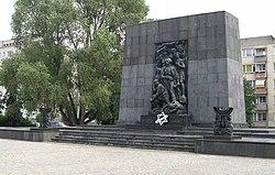 Il memoriale dedicato alle vittime della rivolta nel ghetto di Varsavia