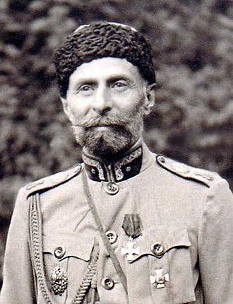 Giorgi Kvinitadze - Image: Giorgi Ivanes dze Kvinitadze Chicovani in Tsarist Uniform