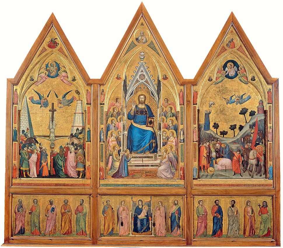 Giotto. The Stefaneschi Triptych (recto) c.1330 220x245cm. Pinacoteca, Vatican.