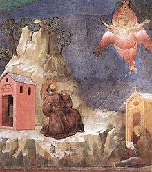 São Francisco de Assis recebe os estigmas, obra de Giotto.