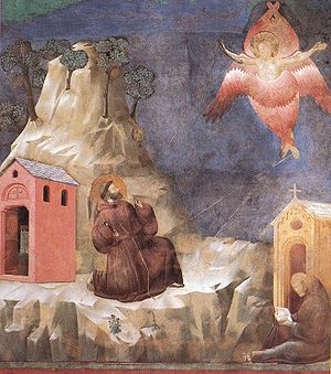 Seraph - St. Francis' vision of a seraph (fresco attributed to Giotto)