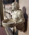 Giovan battista bava, acquasantiera con la vestale tuccia che porge il setaccio, 1552, 04.JPG