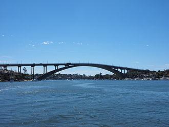 Gladesville Bridge - The western side of the Gladesville Bridge