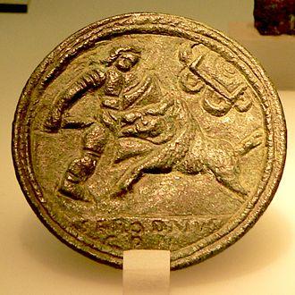 Venatio - Image: Gladiator Bronzemedaillon