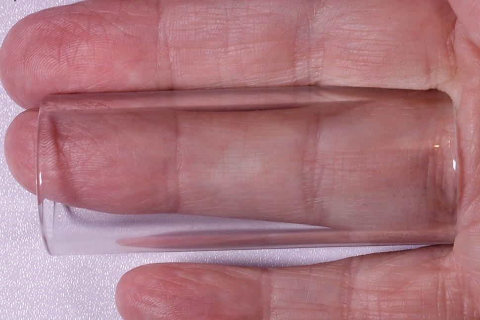 Glass guitar slide on the ring finger