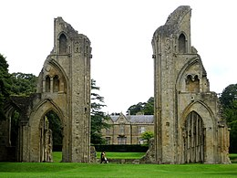 Glastonbury Abbey view up nave.jpg