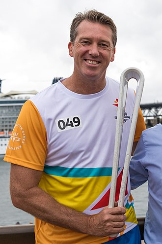 Glenn McGrath - McGrath in the Queen's Baton Relay in Sydney, 3 March 2018