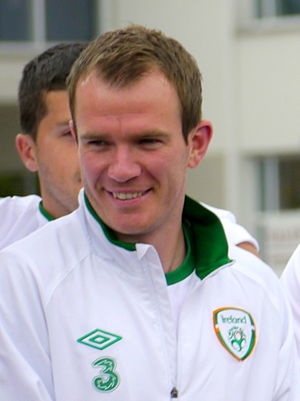 Glenn Whelan - Whelan with the Irish squad at UEFA Euro 2012