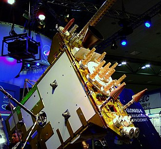 GLONASS-K - Image: Glonass K model at Cebit 2011 Satellite, sideview 1