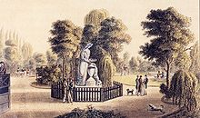 Denkmal für Gottfried August Bürger von 1799 in Göttingen (1956 abgerissen) (Quelle: Wikimedia)