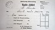 Gotthard Fahrkarte 1881