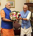 Governor of Gujarat, Shri O.P. Kohli greets the Prime Minister, Shri Narendra Modi on his birthday (15272881801).jpg