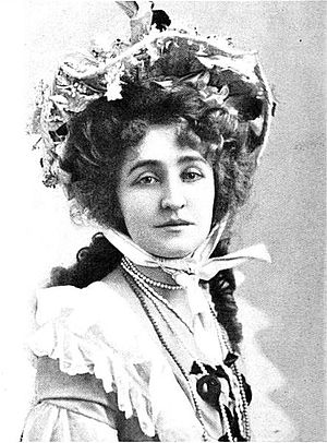"""Grace George - Grace George in 1903 dressed for role in play """"Pretty Polly"""""""