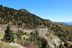 Grandfather Mountain hairpins, Oct 2016 2.jpg