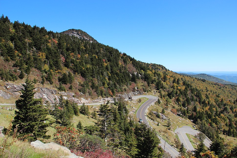 Grandfather Mountain hairpins, Oct 2016 2