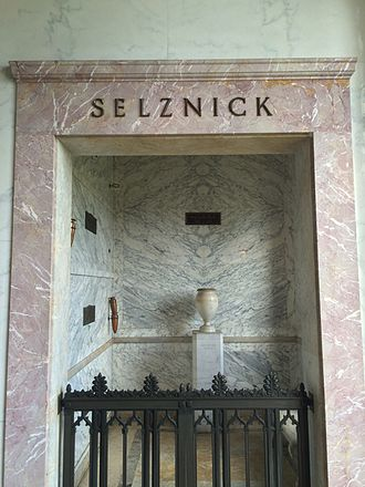 David O. Selznick - Crypt of David O. Selznick, in the Great Mausoleum, Forest Lawn Glendale