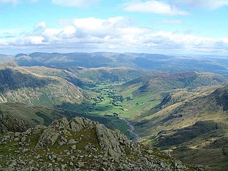 Crinkle Crags - Image: Great Langdale from Crinkle Crags