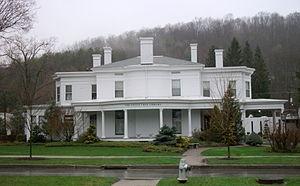 Wellsboro Historic District - Image: Green Free Library Wellsboro PA Apr 11