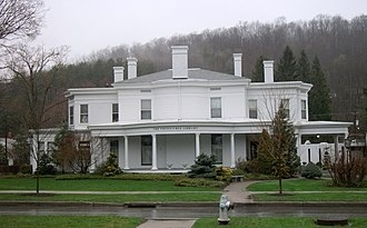 Wellsboro Historic District - Image: Green Free Library Wellsboro PA Apr 11