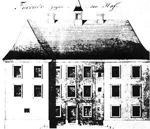 Aufriss von Schloss Gronau (1784)