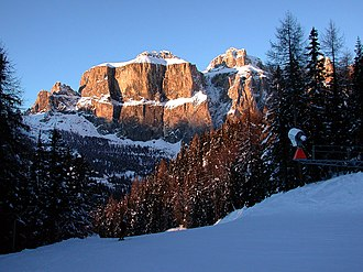 Dolomites - Winter view of the Sella Group