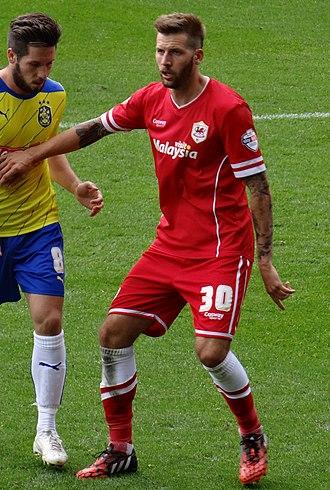 Guido Burgstaller - Burgstaller playing for Cardiff City in 2014.