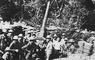 Battle of Corregidor - 3-inch antiaircraft gun M3 on Corregidor