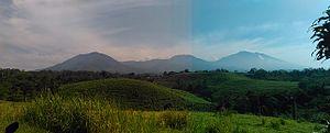 Bogor Regency - Image: Gunung Salak ti Bojonggaling