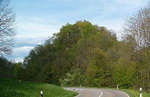 Burghügel der Gutenburg an der Schlücht