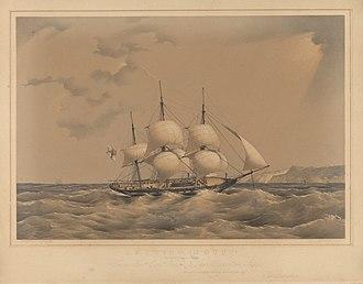 HMS Dido (1836) - Image: H.M.S. Dido (18 guns) running up Channel 18 RMG PY0866