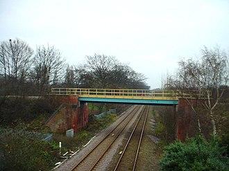 Hull and Barnsley Railway - Image: HBR Woodgates Lane Bridge