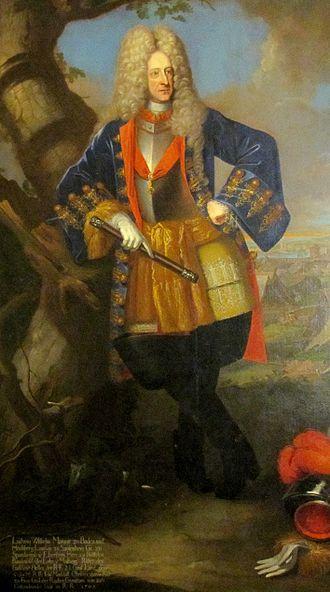 Louis William, Margrave of Baden-Baden - Portrait in 1705