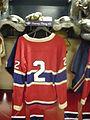 HHOF July 2010 Canadiens locker 03 (Harvey).JPG