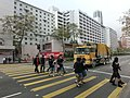 HK 油麻地 Yau Ma Tei 窩打老道 Waterloo Road 廣華醫院 Kwong Wah Hospital Jan-2014 crossing walkway visitors.JPG