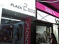 HK Russell Street Plaza 2000 name sign light box Causeway Bay night shop SaSa Dec-2012.JPG