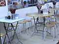 HK Sheung Wan evening Jervois Street restaurant interior furniture tables Aug-2012.JPG