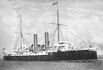 Arthur Dalrymple Fanshawe - The cruiser HMS ''Royal Arthur'', Fanshawe's flagship as Commander-in-Chief of the Australia Station