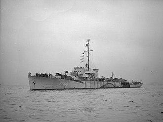 Colony-class frigate - Image: HMS Anguilla 1944 IWM FL 669