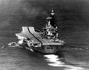 HMS Hermes (R12) underway at sea on 16 March 1982 (6350755).jpg