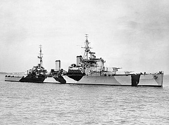 HMS Jamaica (44) - Image: HMS Jamaica anchored