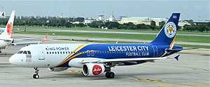 Thai AirAsia - One of Thai AirAsia's aircraft wearing Leicester City F.C. livery