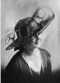 Hair lace, satin and aigetted peacock 1917.png