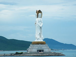 Women in Buddhism - The Guan Yin of the South Sea of Sanya is the largest statue of a woman in the world.